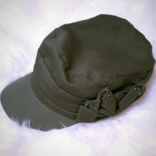 Faded Glory Olive Green with Bow Women's Hat