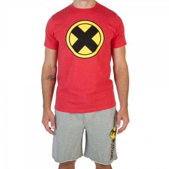 Mens Marvel X-Men Comics Wolverine Sleep Set Shirt Shorts