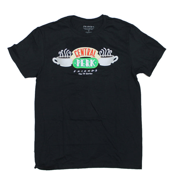Mens Black Friends TV Show Central Perk T-Shirt Tee