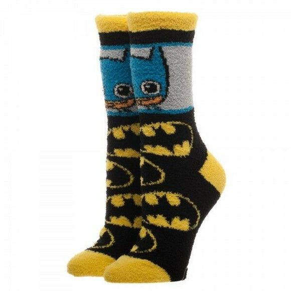 Batman Fuzzy Cozy Winter Warm Socks DC Comics
