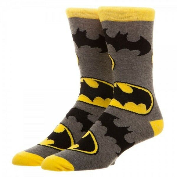 Batman Large All Over Print Men's Crew Socks DC Comics
