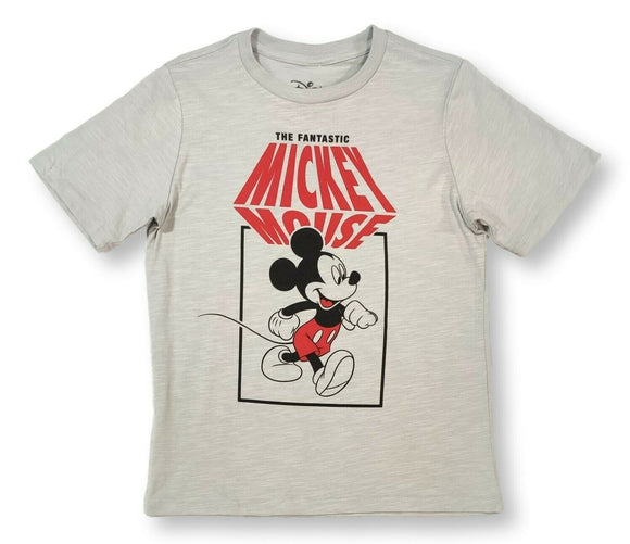 Boy's Youth Gray The Fantastic Mickey Mouse Graphic Tee T-Shirt
