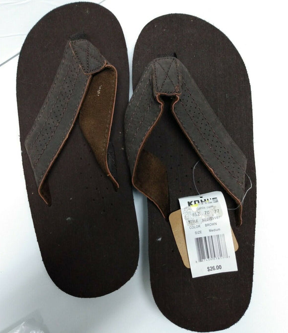 Mens Vintage Stone Brown Thong Flip Flops Sandals Shoe Beach Wear