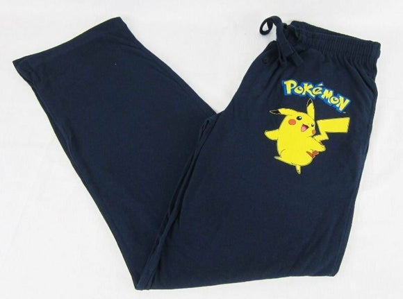 Mens Blue Pikachu Pokémon Sleep Pants Lounge
