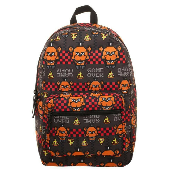Five Nights At Freddy's 8 Bit Sublimated AOE Print Backpack