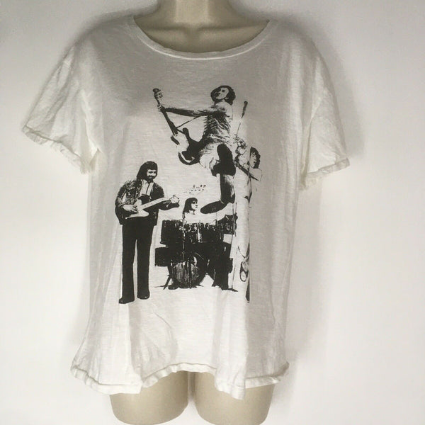 Womens Juniors Junk Food The Who Graphic Band Tour Tee T-Shirt