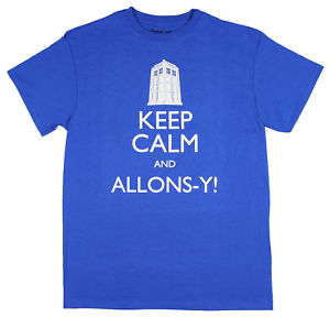 Mens Doctor Who: Keep Calm and Allons-Y Tee T-Shirt