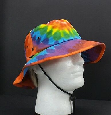 Adult Rainbow Tie Dye Bucket Hat