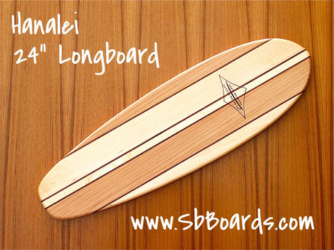 "Hanalei 24"" Longboard Cutting Board & Serving Platter"