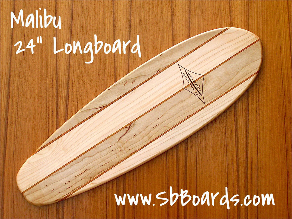 "Malibu 24"" Longboard Cutting Board & Serving Platter"