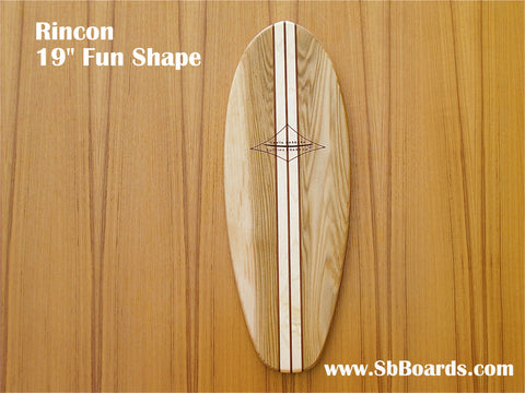 "Rincon 19"" Classic Fun Shape Surfboard Cutting Board & Serving Platter"