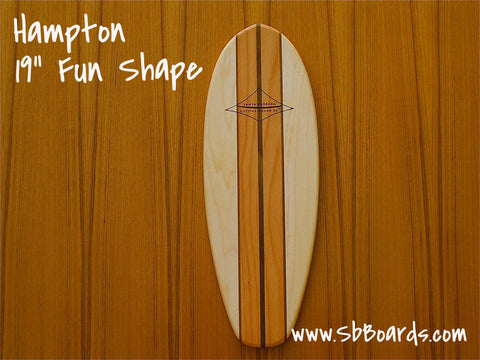 "Hampton 19"" Classic Fun Shape Surfboard Cutting Board & Serving Platter"
