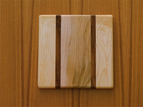 "The Backpacker Square Cutting Board - Honolua Pattern - (approx. 7.5"" x 7.5"")"