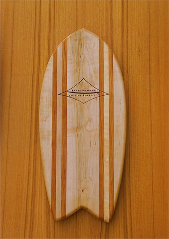 "Hatteras 16"" Fish Tail Surfboard Cutting Board & Serving Platter"