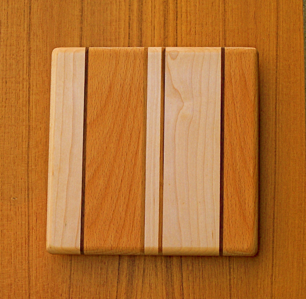 "The Backpacker Square Cutting Board - Hanalei Pattern - (approx. 7.5"" x 7.5"")"