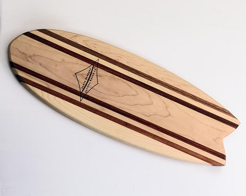 "Hatteras 21"" Fish Tail Surfboard Cutting Board & Serving Platter"