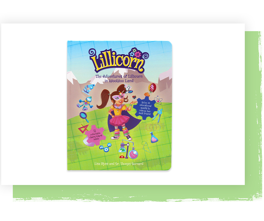 The Adventures of Lillicorn in WooWoo Land cover in English, Dutch and French publisher QuestFriendz