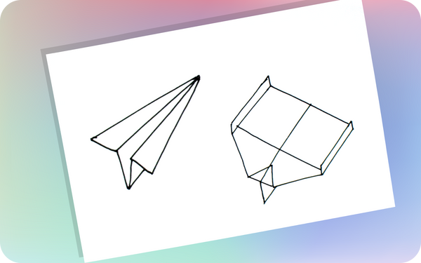 A simple and a complex airplanes