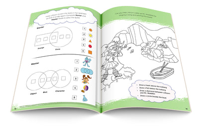 Open STEM activity book  with Lillicorn and Mr Waddles by Publisher QuestFriendz