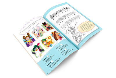 Open STEM activity book  with Lillicorn's friends by Publisher QuestFriendz