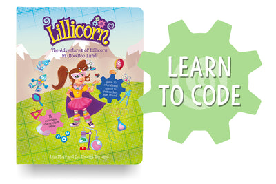 The Adventures of Lillicorn in WooWoo Land cover in English with Learn to Code by publisher QuestFriendz