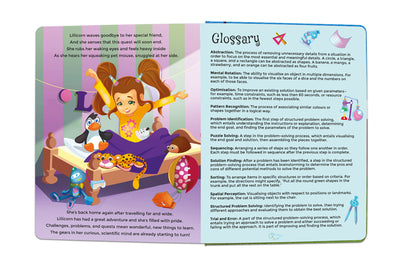 Glossary for The Adventures of Lillicorn in WooWoo Land cover by STEM publisher QuestFriendz