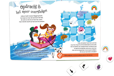 Inside spread quest 8 of The Adventures of Lillicorn in WooWoo Land in Dutch by STEM publisher QuestFriendz