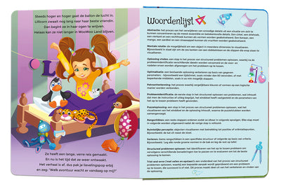 Glossary for The Adventures of Lillicorn in WooWoo Land in Dutch by STEM publisher QuestFriendz