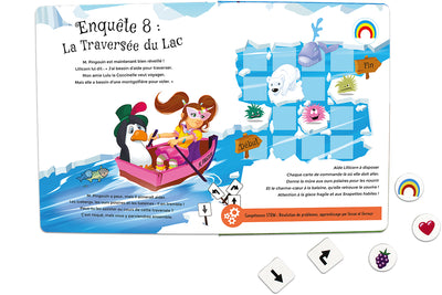 Inside spread quest 8 of The Adventures of Lillicorn in WooWoo Land in French by STEM publisher QuestFriendz