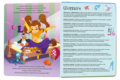 Glossary for The Adventures of Lillicorn in WooWoo Land in French by STEM publisher QuestFriendz