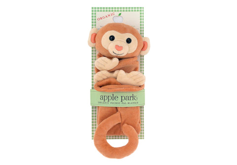 Apple Park Picnic Pal Blankie - Monkey in Package
