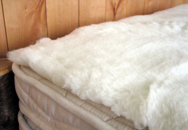 Holy-Lamb-Happy-Lamb-Fleece-Topper-Organic-Bedding-Mattress-Topper-In-Use
