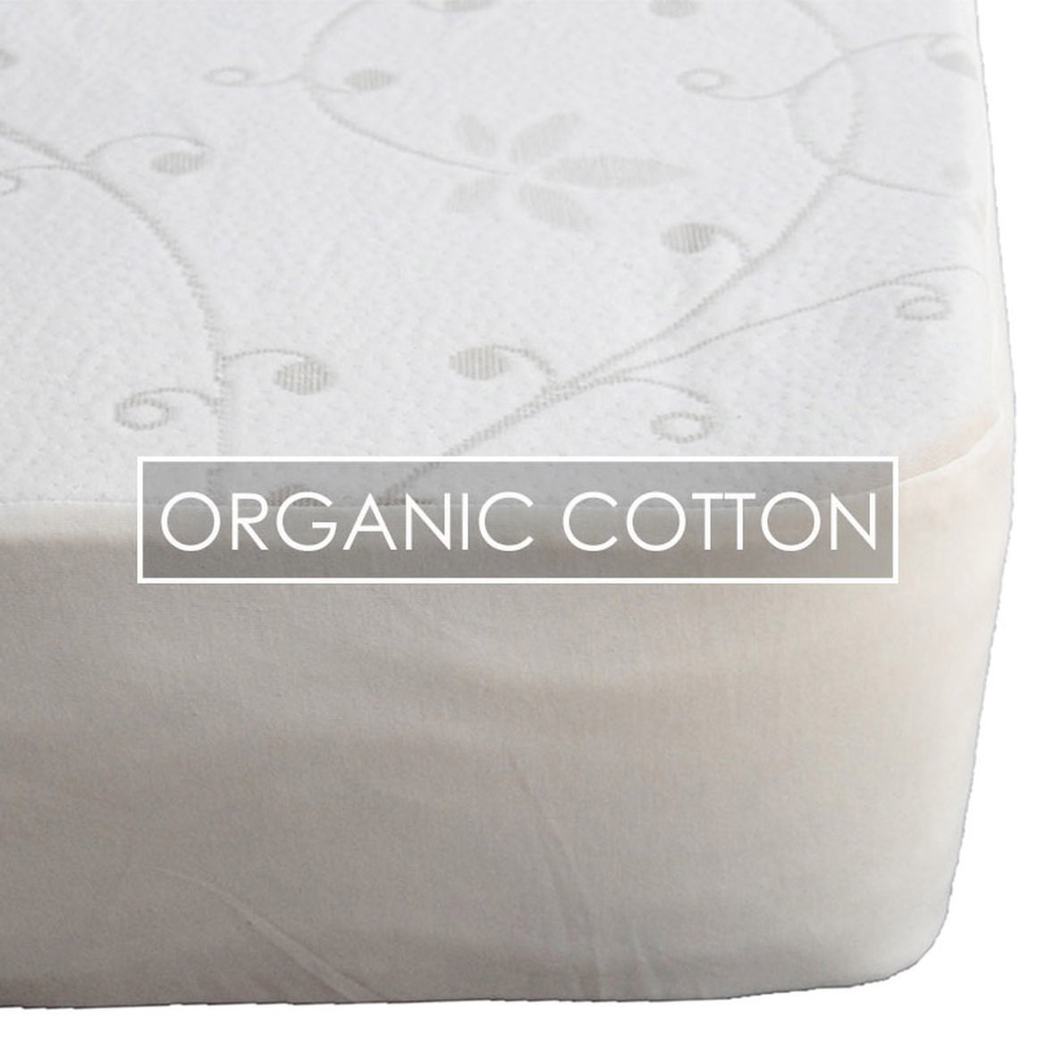 Suite Sleep Organic Cotton Knit Mattress Pad - Fitted