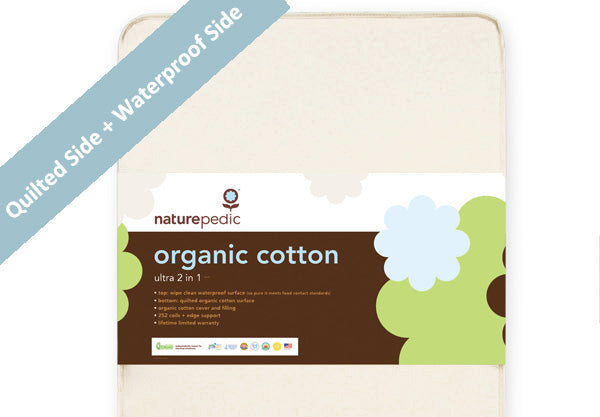 Naturepedic Organic Cotton 2 In 1 Ultra Quilted Crib