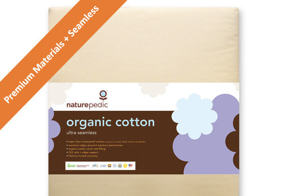 Naturepedic No-Compromise Ultra Organic Cotton Crib Mattresses 252 Seamless (MC41)