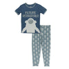 Kickee Pants Shortsleeve Pajama Set