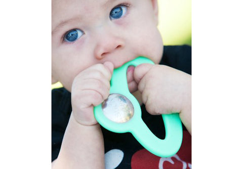 Baby Teething on a Toofeeze Teether