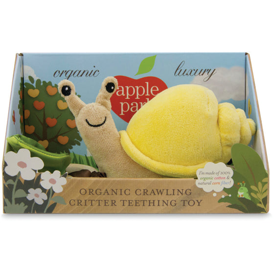 Apple Park Crawling Snail Teething Toy - Green