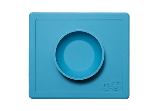 ezpz-silicone-happy-bowl-blue-safe-baby-feeding-satara