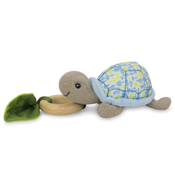 Apple Park Crawling Turtle Teething Toy - Blue