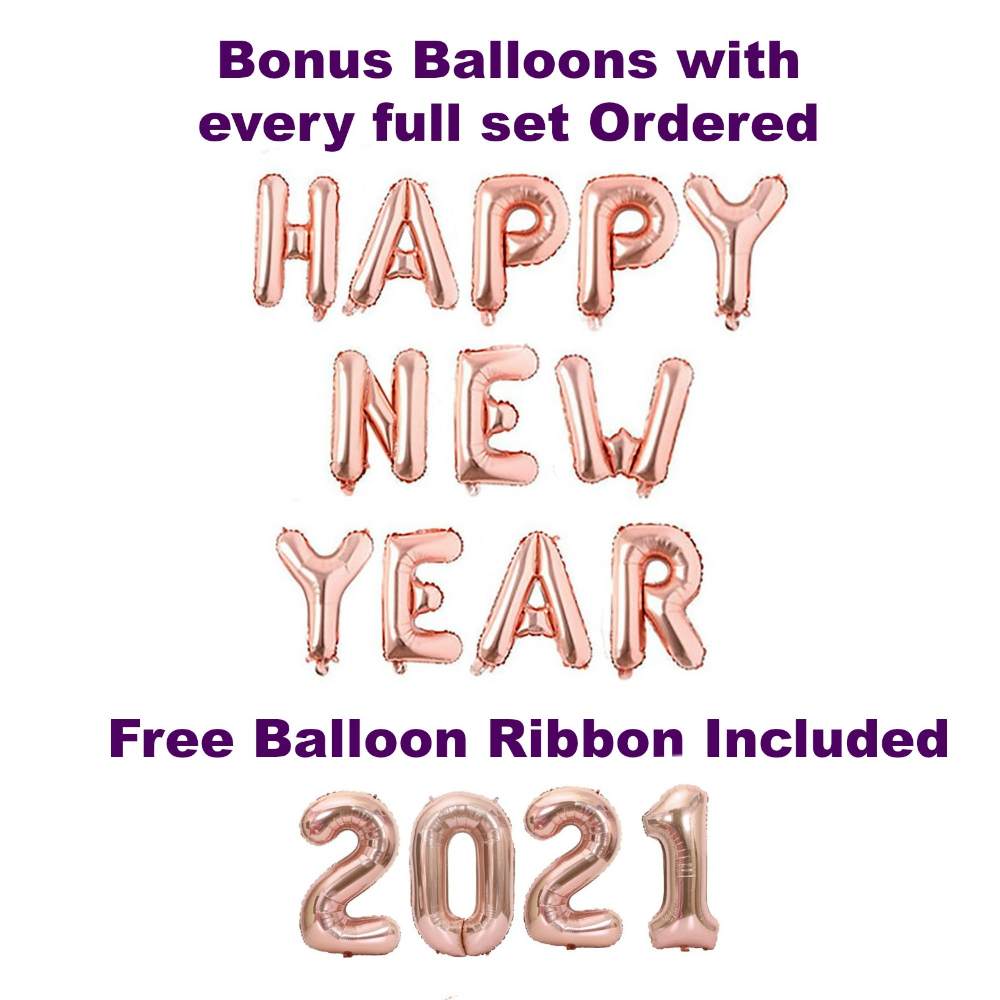 New Years Eve Party Decorations 2021 Rose Gold Balloons Party Ideaz
