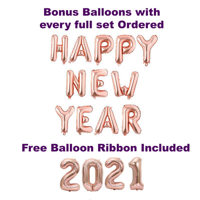 New Years Eve Party Decorations 2021, Rose Gold Balloons