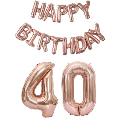 Rose Gold Happy Birthday Balloon Sets