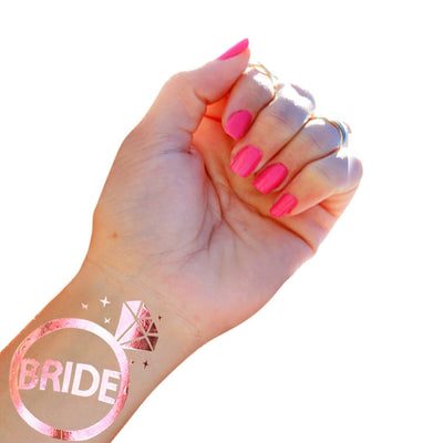 Bride and Bride Tribe Tattoos, Hen Party Accessories