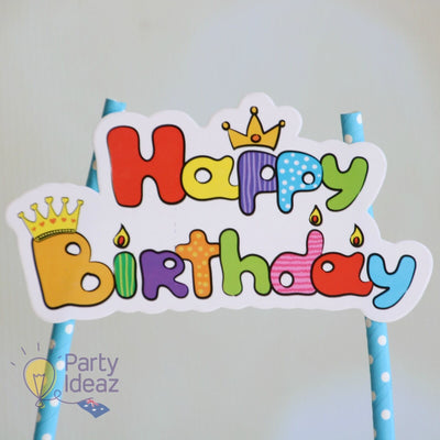 Kids Birthday Cake Topper