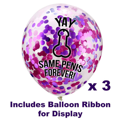 Same Penis Forever Balloons, Willy Balloons - Hen Night Accessories