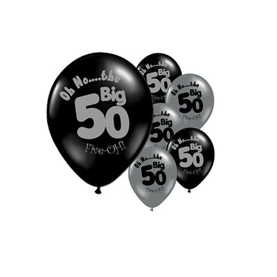 40th 50th Birthday Decorations, Oh No the Big 40 & 50 Balloons