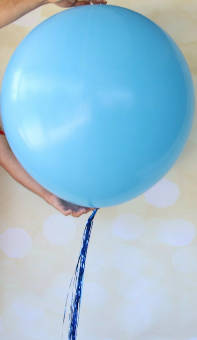 Jumbo Pink Balloons, Giant Blue Balloons - Boy or Girl Baby Shower Decorations
