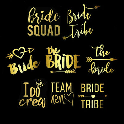Hen Party Tattoos - Bride Tribe, Team Bride, Brides Bitches, Hen Night Accessories