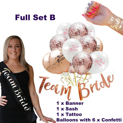 Team Bride Sashes & Decorations